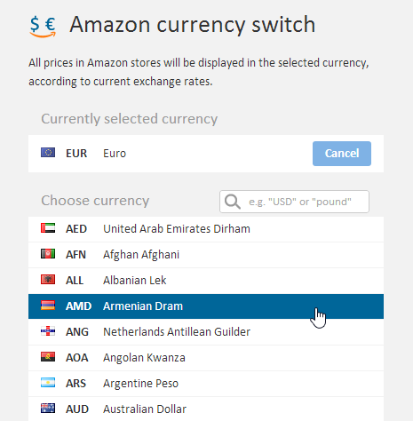 amazon-urrency-switcher