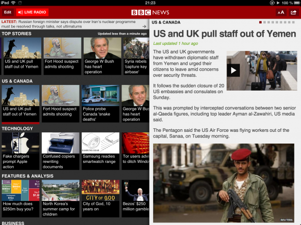 Get Your iOS International News Fix From The BBC bbcnews liveradio 590x442