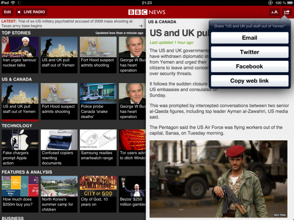 Get Your iOS International News Fix From The BBC bbcnews socialsharing 590x442