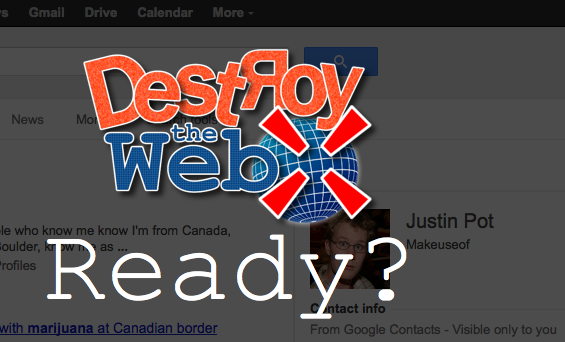Destroy The Web: Shoot Things You Dislike, For Fun and Profit [Firefox, Chrome] destroytheweb main