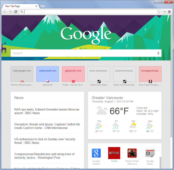 9 Ways to Customise the New Tab Page in Chrome google now new tab page4
