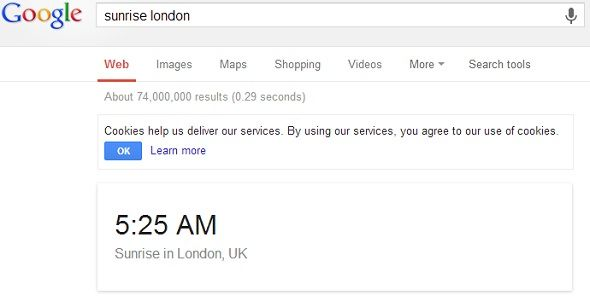 8 Google Search Tips To Keep Handy At All Times google sunrise london