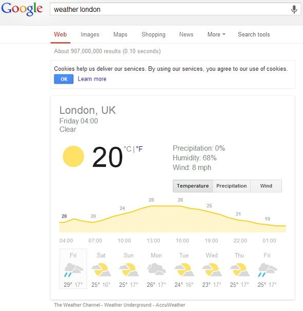 8 Google Search Tips To Keep Handy At All Times google weather london