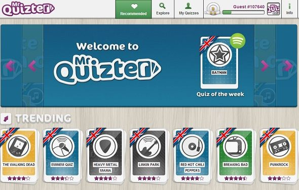 Test Your Music Knowledge With The Mr. Quizter Spotify App mr quizter homepage