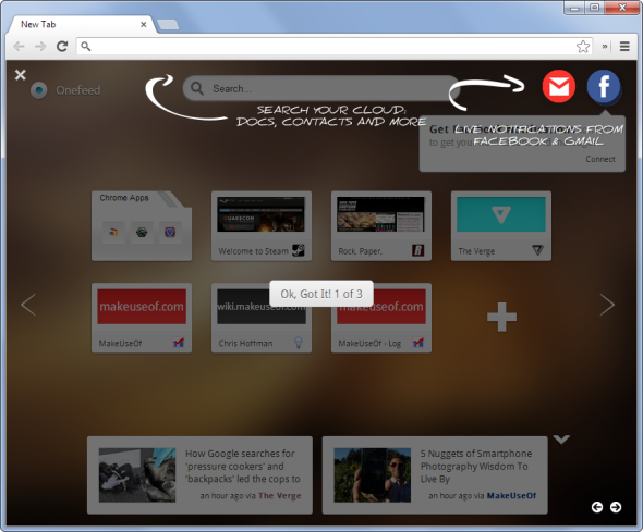 9 Ways to Customise the New Tab Page in Chrome onefeed new tab page in chrome