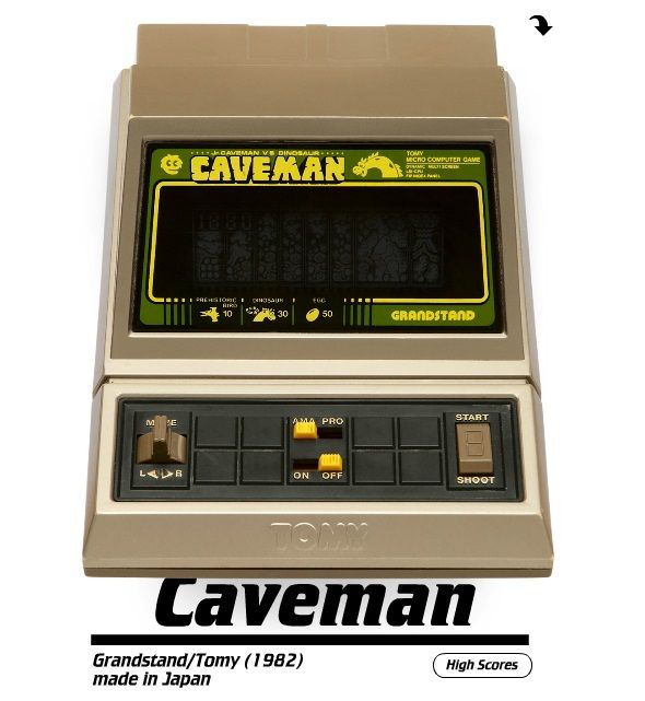 Pica Pic Brings Classic Handheld Electronic Games To The Web pica pic caveman
