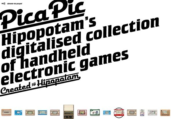 Pica Pic Brings Classic Handheld Electronic Games To The Web pica pic homepage