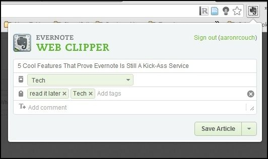 1 Old Web Clipper Interface