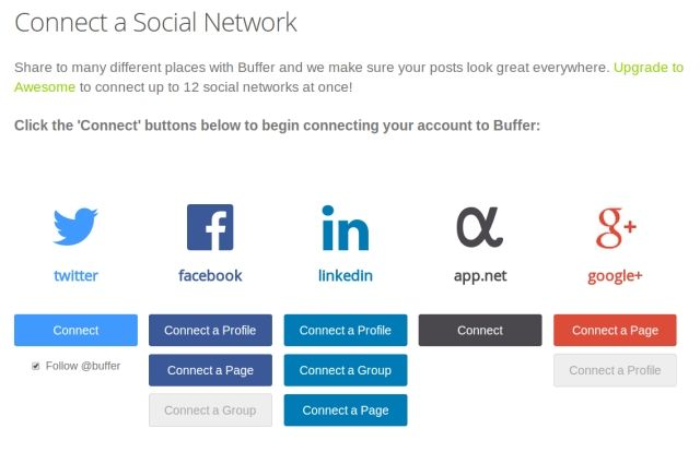 Buffer Adds Ability To Schedule Updates To Your LinkedIn Company Page Buffer Accounts Connect LinkedIn Company Page