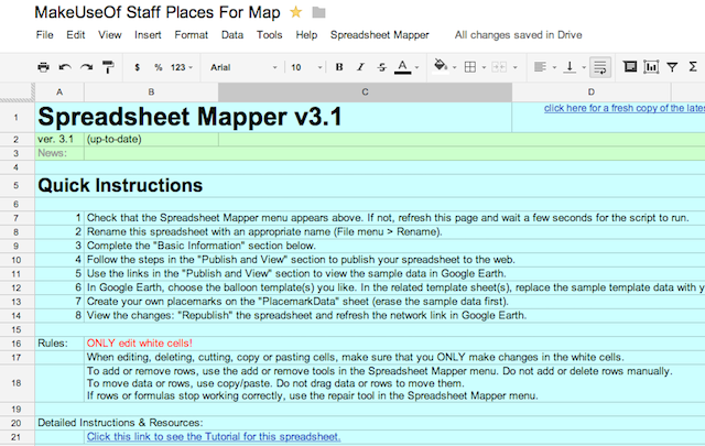 Google-Maps-Spreadsheet Mapper