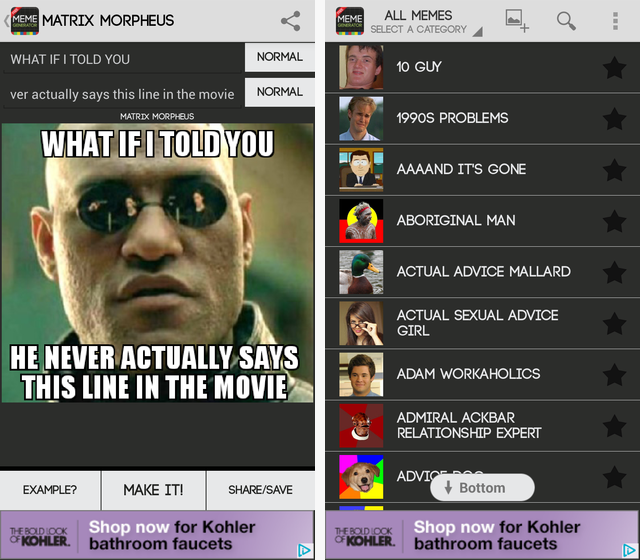 MemeGenerator 1 3 great android tools to make memes on the go