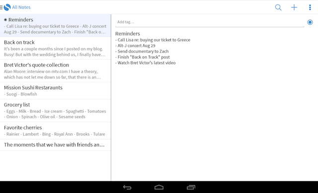 Simplenote Launches Official Android App For Easy Note-Taking Simplenote Android