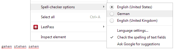 Spell Check Text Field In Chrome