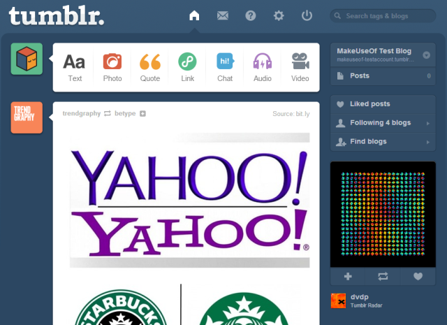 Tumblr-Dashboard