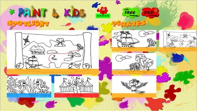 Windows 8 kids games Paint