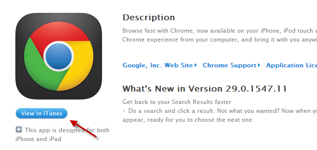 How To Force Chrome To Open iTunes Store Links In The iTunes Desktop App chrome itunes