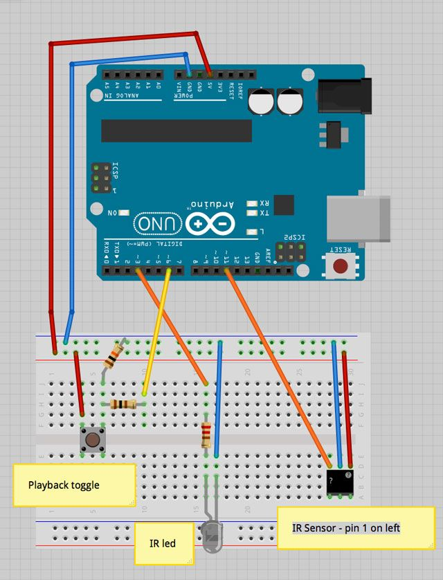 circuit diagram ir prank2 introducing the tv devil, an easy remote control arduino prank