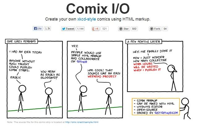 5 Tools To Create An Online Comic comix io