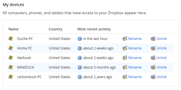 dropbox-unlink-devices
