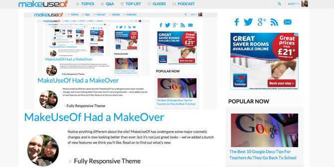 MakeUseOf Had A MakeOver