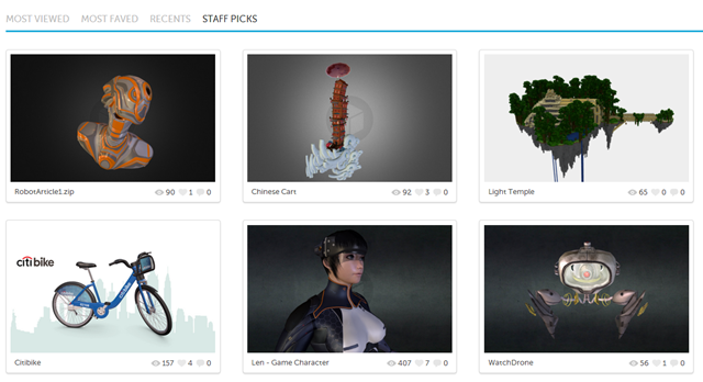 The Future Is Here: Sketchfab Puts 3D Models Right In Your Browser sketchfab2