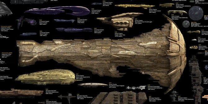 Which Is The Largest Science Fiction Starship?