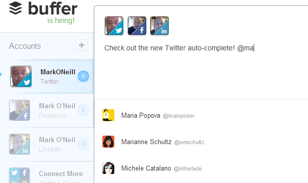 Buffer Introduces Smart Twitter Auto-Complete twitterautocomplete1