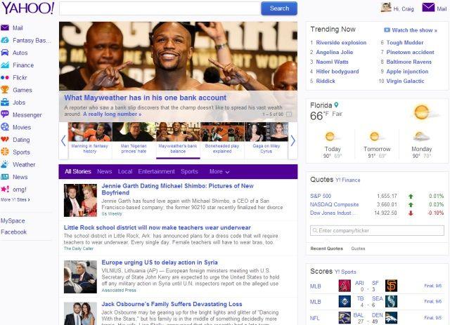 Can sexual orientation change yahoo homepage