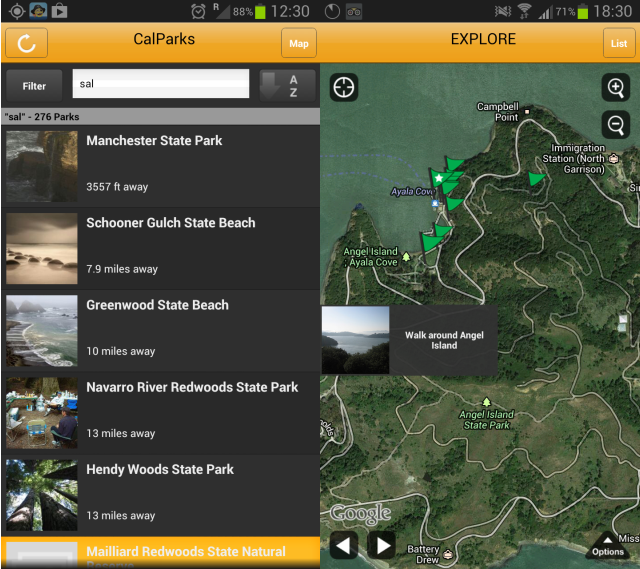CalParks Android App