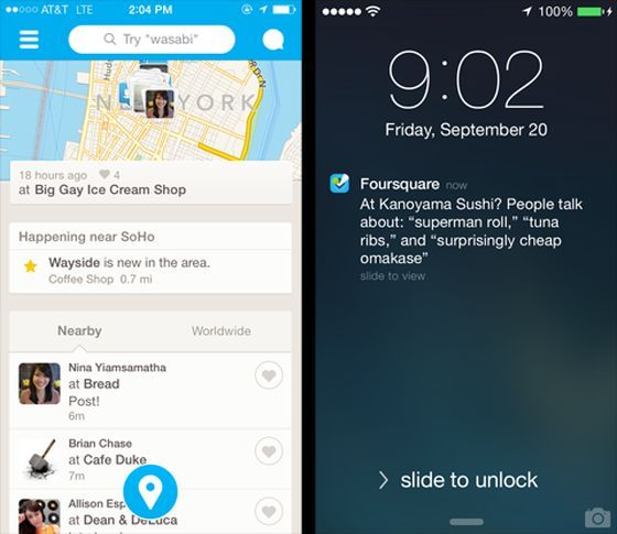 Foursquare-Update-Brings-Real-Time-Recommendations-Nearby-Friends