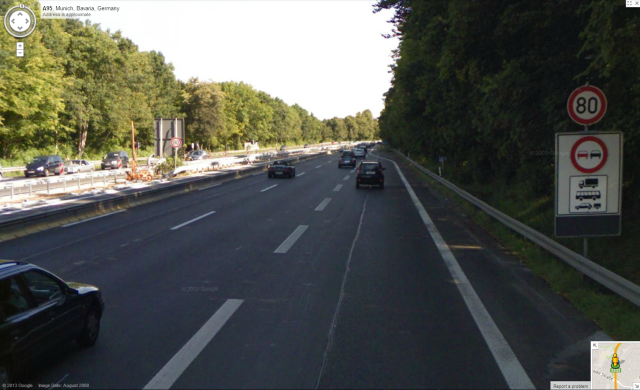 Google Maps Street View Autobahn