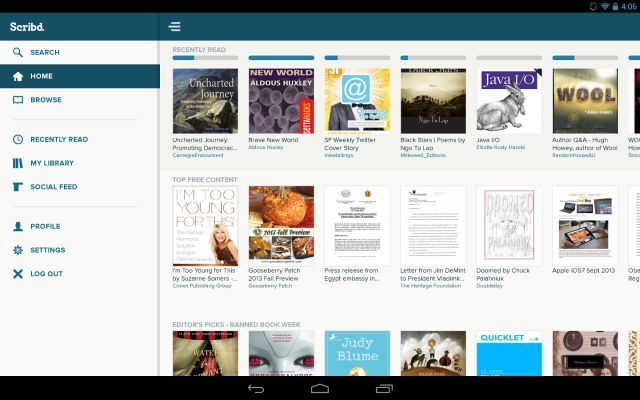 Scribd-Harper-Collins-netflix-for-books-android
