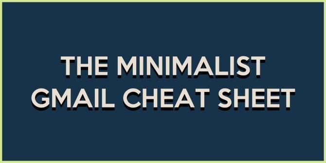 The Minimalist Gmail Cheat Sheet
