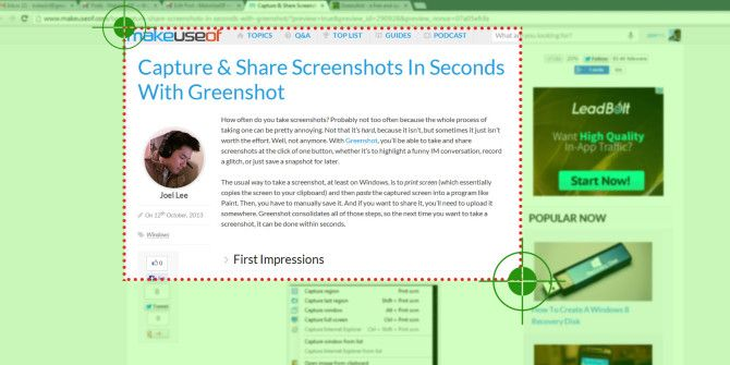 Capture & Share Screenshots In Seconds With Greenshot