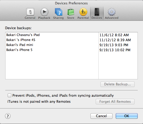How to manually backup iphone