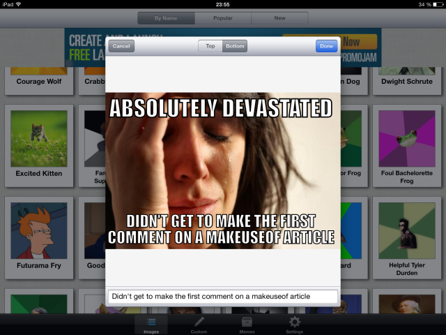Meme Generator: Possibly The Most Amount Of Fun You Will Have On Your iPad memegenerator3