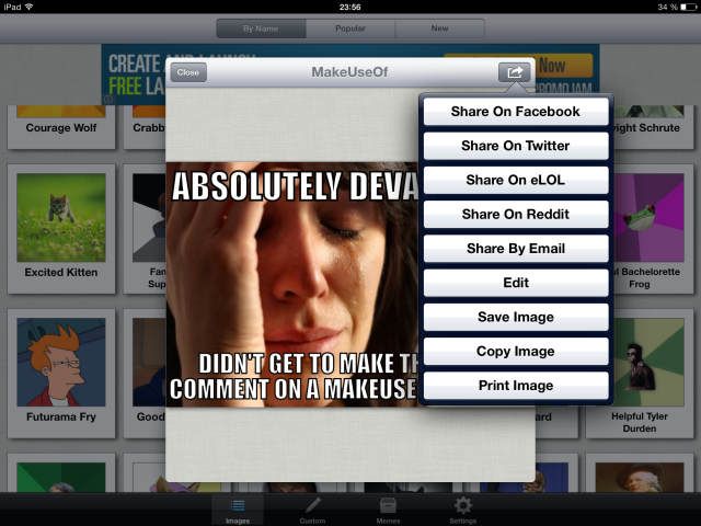 Meme Generator: Possibly The Most Amount Of Fun You Will Have On Your iPad memegenerator6