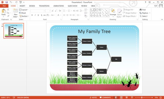 PowerPoint Family Tree