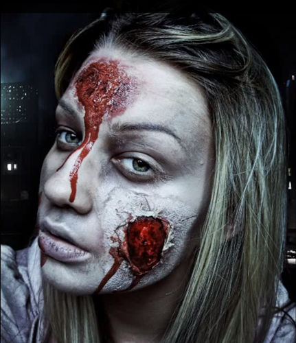 11 hideously scary halloween makeup ideas you can borrow from the web simple zombie solutioingenieria Choice Image