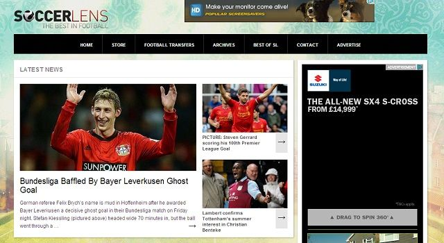 8 Super Websites for Soccer Fans soccer lens homepage