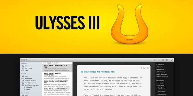 Ulysses III: A Clean Stylish Text Editor for Writing and Managing Documents