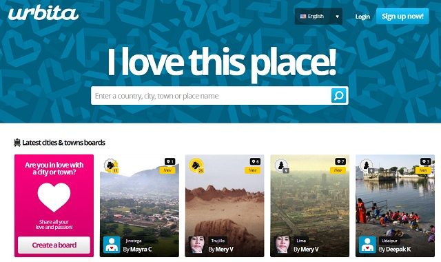 Plan Future Vacations With These Pinterest-Style Websites For Locations urbita homepage