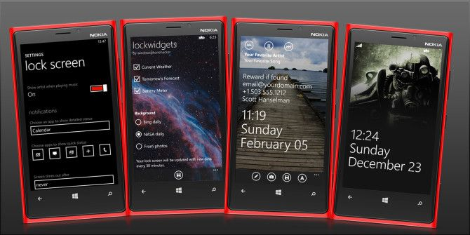 Windows Phone 8 Lock Screen Options: Calendar, Email and Weather
