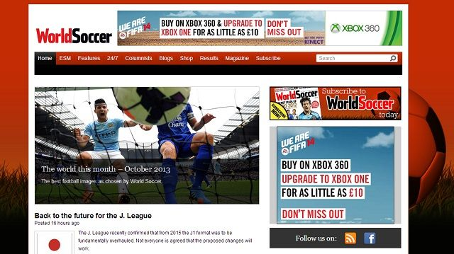 8 Super Websites for Soccer Fans world soccer homepage