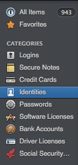 1Password categoreis 2