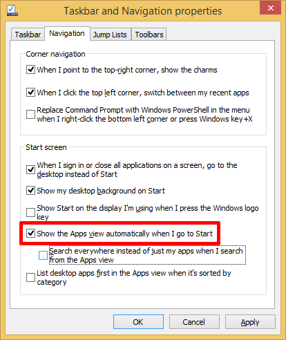 Enable Start Menu Replacement In Windows 8.1