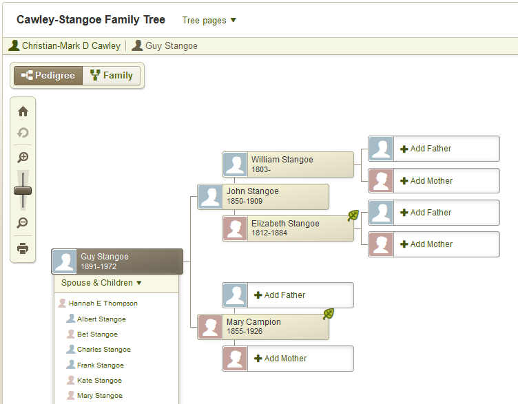 Unmissable and Free Family Tree Software for Linux Family Tree image1