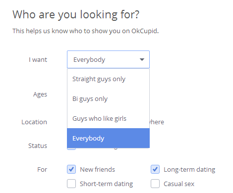online dating options