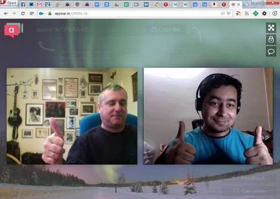 Opera 18 Brings WebRTC For Desktop, Redesigned For Android