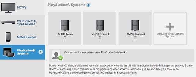 Three PlayStations authorized on my account, none of which are mine.